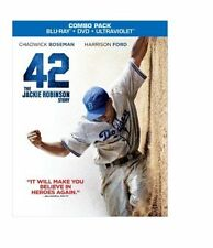 42: The Jackie Robinson Story (2013) Very Good Blu-ray + DVD with SLIPCOVER!