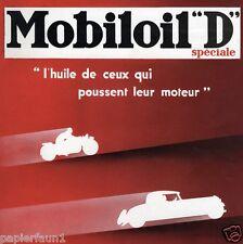 Mobiloil franz. XL Reklame von 1933 Werbung Motorrad Oldtimer ad Benzin Diesel