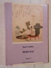 HOKUSAI Rapporti Henri Focillon Edizioni Alfa 33 1982 Arte Giappone Giapponese