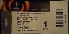 TICKET Media UEL 2016/17 Sparta Praha vs Southampton FC