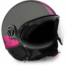HELMET MOMO JET FIGHTER FLUO GRAY SHINY - FUXIA SIZE XS
