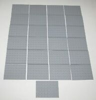 Lego Lot of 25 New Light Bluish Gray Plates 6 x 8 Dot Plates Parts Pieces