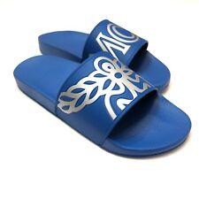 J-3590988 New MCM Munich Blue Rubber Flip Flop Sandal Slide Shoe Size 9 Euro 42