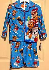 Nickelodeons Paw Patrol 2-Piece Flannel Christmas Pajama Set Boys Size 2T or 3T