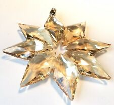 Crystal Prism Hanging Ornament Window Suncatcher Star Design Champagne Color