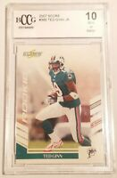 Ted Ginn Jr. Rookie Card BCCG 10 GEM MINT Miami Dolphins 2007 Score #385