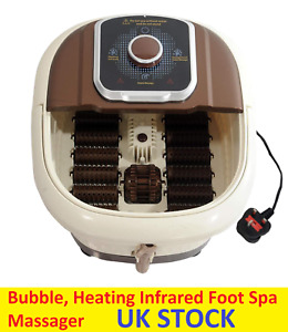 Electric Vibrating Wet Bath Foot Spa Infrared Massager Pedicure Heating Soothing