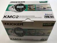 KICKER KMC2 - MARINE MULTI-MEDIA GAUGE STYLE RECEIVER - 4x50 WATTS PEAK POWER