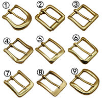 Solid Brass Pin Belt Buckles Men's Belt Buckle For 38mm Belt