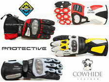 Cowhide Leather Motocross & Off-Road Gloves with Hard Armour