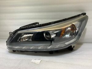2013 2014 2015 Honda Accord Headlight OEM Halogen W/LED Left Driver