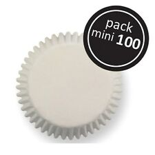 100 Mini Magdalena Cajas Hornear Muffin Torta Petits Fours Color Blanco