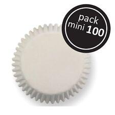 100  mini cupcake cases baking muffin cake petits fours white colour