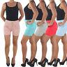 Corsagen High Waist Hot Pants Jeans Hochschnitt Shorts Capri Hotpants Kurze Hose