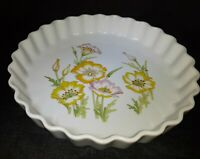 """Vintage Toscany Fine China """"Jessica"""" Fluted Quiche Dish 10"""" Ovenware, Japan"""