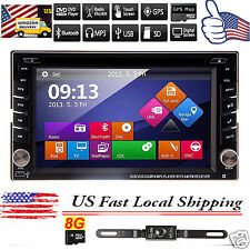 "6.2"" GPS Double 2 DIN In Dash Car Stereo DVD Player USB Bluetooth IPOD CD Radio"