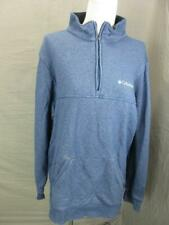 Columbia Size L Mens Blue Athletic Outdoor Cotton Half-Zip Pullover T673
