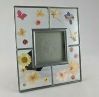 """Carr Frames Pressed Dried Flowers Picture Photo Frame 5"""" x 6"""" Metal Glass"""