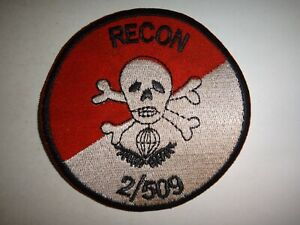 US Army Patch RECON Platoon 2nd Battalion 509th INFANTRY Regiment