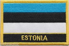 Estonia Flag Embroidered Patch Badge - Sew or Iron on