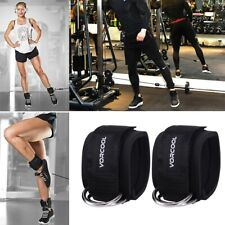 Ankle D Ring Straps Gym Weight Lifting Fitness Exercise Cuff Pulley Attachment