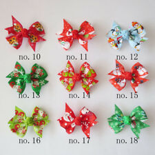 "50 BLESSING Good Girl 2.5"" Wing Hair Bow Clip Christmas Accessories Wholesale"