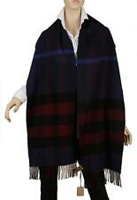 NEW BURBERRY HALF MEGA CHECK 100% CASHMERE OVERSIZED SHAWL WRAP SCARF UNISEX