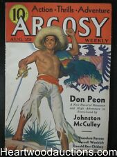 Argosy Aug 22, 1936 Cornell Woolrich, Johnston McCulley, Theodore Roscoe - High