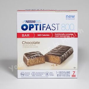 OPTIFAST 800 BARS - CHOCOLATE - 6 BOXES - 42 SERVINGS - FRESH