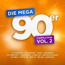 Les Mega 90er: la officielle Compilation vol.2 2 CD NEUF atb/u98 (DJ bobosnap!/