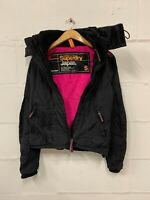 Women's Superdry The Windcheater Jacket Hooded Coat Size Small S Black