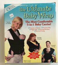 Parents of Invention The Ultimate Baby Wrap Navy Blue 5-in-1 Baby Carrier Sling
