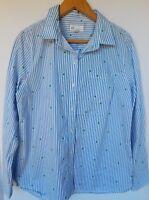 NWT Gap Women's Long Sleeve Blue Striped Shirt Top Stars XS M L XL New Free Ship