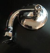 "3"" Round Polished Stainless Steel Peep 1x Mirror 1 Street Hot Rod Rat Rod Custom"