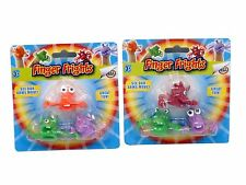 FINGER PUPPETS Party Filler Scary Rubbery Wobbly Arms Jiggle Kids Toy Monsters