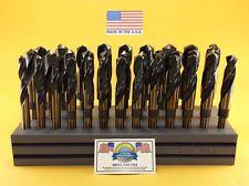 "Drill Hog USA Silver & Deming Drill Bit Set Index 33 Pc 1/2-1"" Lifetime Warranty"