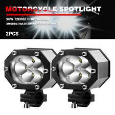 2x Car Motorcycle Headlight Spot Fog Lights Cree LED Front Head Lamp 60V 96W ATV