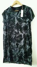 DIESEL DRESS CENS ABITO GREY/BLACK T-SHIRT STYLE SIZE S rrp £89 BNWT