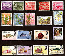 ILE MAURICE poissons,coquillages,fleurs,personnages,divers     82m173a