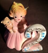Vintage Josef Originals 2nd Birthday Angel Girl Figurine Two 2