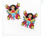 Wonder Woman  Planar Resin flatback 40mm (pack of 5) with stars