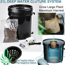 21L DWC SYSTEM HYDROPONICS DEEP WATER CULTURE BUBBLE BUCKET BIG PLANT FAST GROW