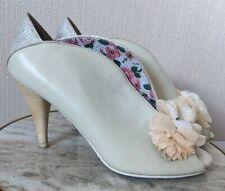 Poetic Licence Peeptoe Shoes, Ivory, Wedding, Flower Corsage/Jewel **VGC** UK 6