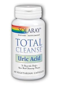 Solaray - Total Cleanse Uric Acid - 60 Capsules