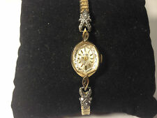 Vintage Elgin Hand Wind Watch with Diamond Chips and Speidel Twist Band!