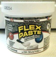 New listing Flex Seal Flex Paste White Super Thick Rubber Paste 1 lb Jar *Ships Priority*