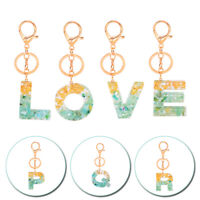 A-Z Alphabet Acrylic Keychain Fashion Letters Key Ring Charm Bag Car Pendant 1PC