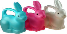 More details for set of 3 chunky plastic childrens 3 bunny rabbit watering cans