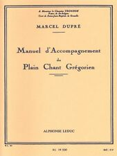 Marcel Dupré MANUEL D'accompagnement Plain-Chant grégorien LIBRO di musica di Organo