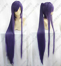 Vocaloid Miku Gakupo Purple Cosplay Wig Clip On Ponytail+Gift Hairnet